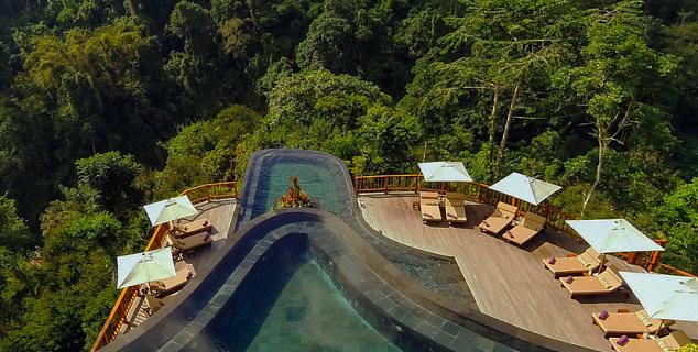 Hanging gardens of bali jasmine holidays for Ubud hanging gardens swimming pool price