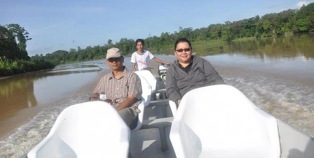 Cruising to Pitas Lake, Kinabatangan
