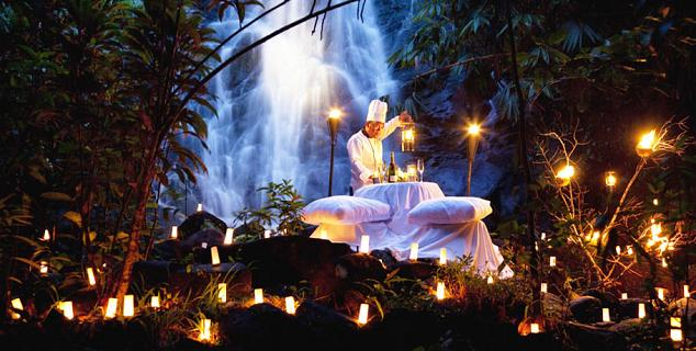 Dining by the Waterfall
