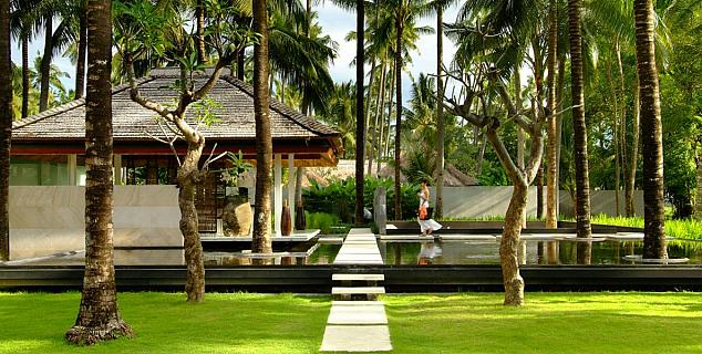 Gardens in the Coconut Plantation