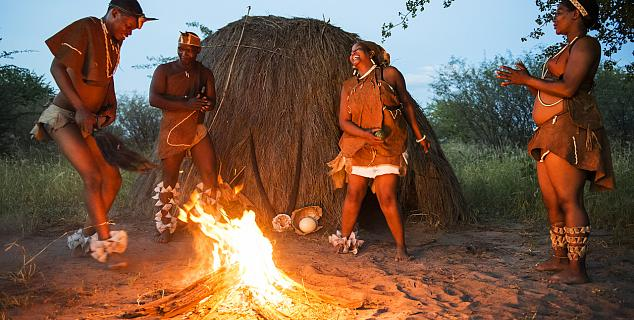 San people in the Kalahari